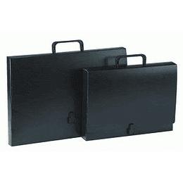 Mape portfelis Multi-S A4/45mm ar slēdzi, melna krāsa