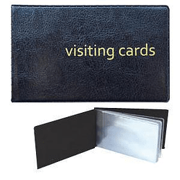 Vizītkaršu bloks 24 vizītkartēm, ECO melns