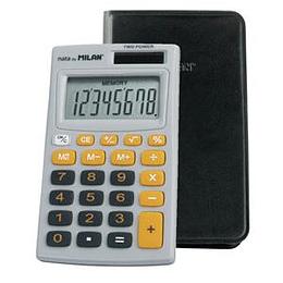Kalkulators Milan Nata, pelēks/oranž