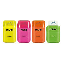 Точилка с ластиком MILAN Compact FLUO