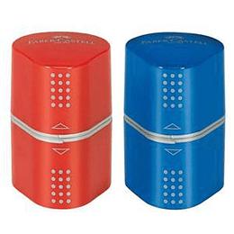 Точилка Faber-Castell Grip Trio красная/синяя