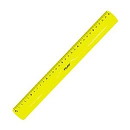 Линейка 30см, эластичная, желтый цвет, Milan