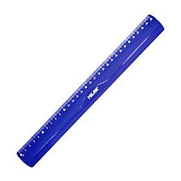 Линейка 30см, эластичная, синий цвет, Milan