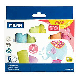 Мелки для асфальта 6 цветов Milan
