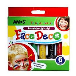Грим-мелки для детей 6 цветов AMOS