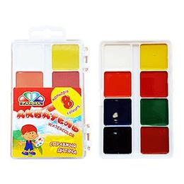 Akvareļkrāsas 8 krāsas UA Gamma