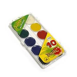 Akvareļkrāsas 10 krāsas BITĪTE Gamma