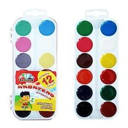 Akvareļkrāsas 12 krāsas UA Gamma