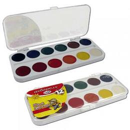 Akvareļkrāsas 12 krāsas JAUNAIS MAKSLINIEKS Gamma