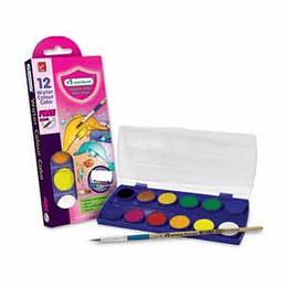 Akvareļkrāsas 12 krāsas plastmasas kastītē MASTERART