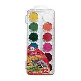 Акварельные краски Мультики 12 цветов без кисточки