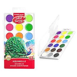 Akvareļkrāsas 18 krāsas ArtBerry, ErichKrause