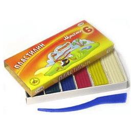 Plastilīns 6 krāsas Gamma MULTENES