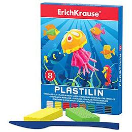 Plastilīns 8 krāsas 144g, ErichKrause