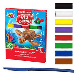 Plastilīns 8 krāsas ArtBerry Aloe Vera, ErichKrause, 144gr.