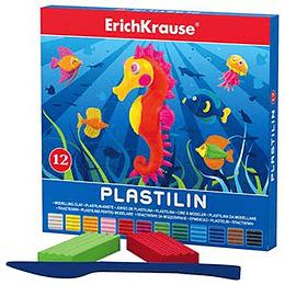 Plastilīns 12 krāsas 216g, ErichKrause
