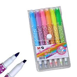 Flomāsteru komplekts 6 krāsas dīvpusīgs