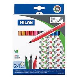 Flomāsteri 24 krāsas d=2mm fine tip, Milan