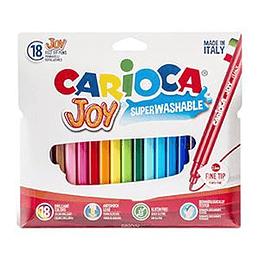 Flomāsteri JOY 18 krāsas, kartona (slim) iepakojums, Carioca