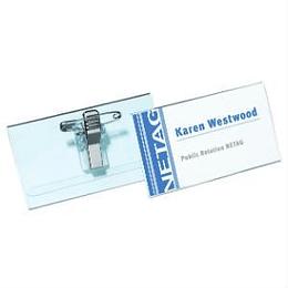 Идентификационная карта 40x75мм с металлической клипсой и булавкой