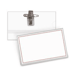 Идентификационная карта FORPUS 90x54мм с металлической клипсой