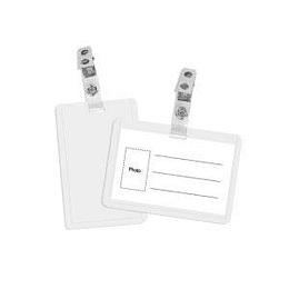 Индификационная карта 90x55mm горизонтальный, прозрачный с клипом