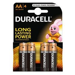 Baterijas AA LR6 DURACEL Alcaline 1.5V cena par 4gab.