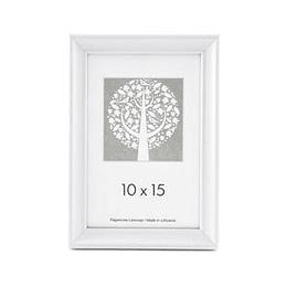 Fotorāmis 10x15cm koka, balta krāsa