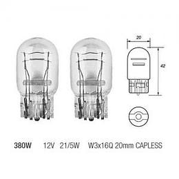 Auto spuldze W21/5W 12V 2B03 W3x16q halogēna TESLA
