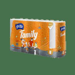 Papīra dvieļi Grite Family 2-slāņu/4 ruļļi