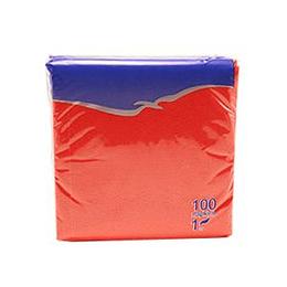 Salvetes 24x24 cm, 100 salvetes, sarkanas