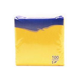 Salvetes 24x24 cm, 100 salvetes, dzeltenas