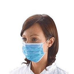Медицинские маски трехслойные, PP синего цвета