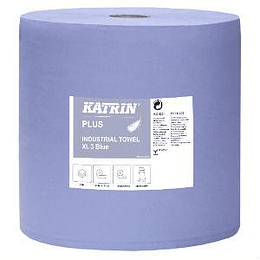 Industriālais papīrs Plus XL, 3 slāņi 370m zila krāsa KATRIN