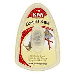 Губка для чистки обуви KIWI Express Shine, нейтральный цвет