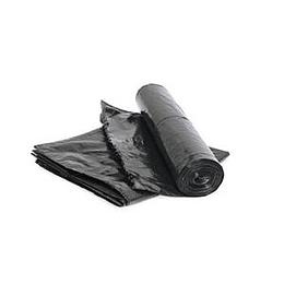 Мусорные мешки 30 литров/20шт/52x64см/8мкр чёрные, HDPE