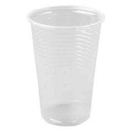 Glāzes 200ml caurspīdīgas (100g.) PP