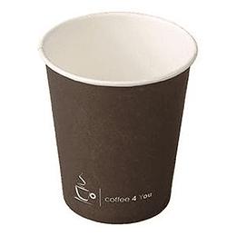 Картонный стаканчик 250 мл/100 шт. обпечатанные