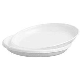 Тарелки 20.5 см/100штук белые PS