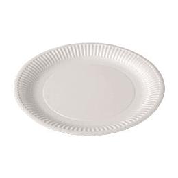 Бумажные тарелки, диаметр 23см, белые, 100 шт.