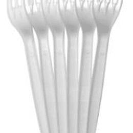 Вилки пластмассовые 17 см/100штук PS