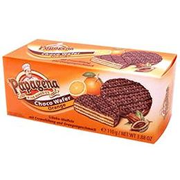 Vafeles ar šokolādi un apelsinu krēmu 110gr