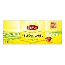 Tēja Yellow Label, 25pac. melnā, Lipton
