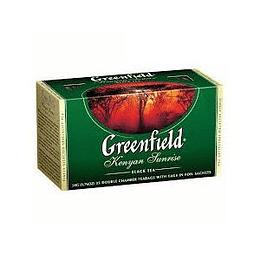 GREENFIELD Kenyan Sunrice melnā tēja 25x2g