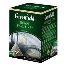 GREENFIELD Royal Earl Grey melnā tēja 20x2g