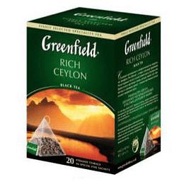 GREENFIELD Rich Ceylon melnā tēja 20x2g