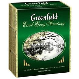 GREENFIELD Earl Grey Fantasy melnā tēja 100x2g