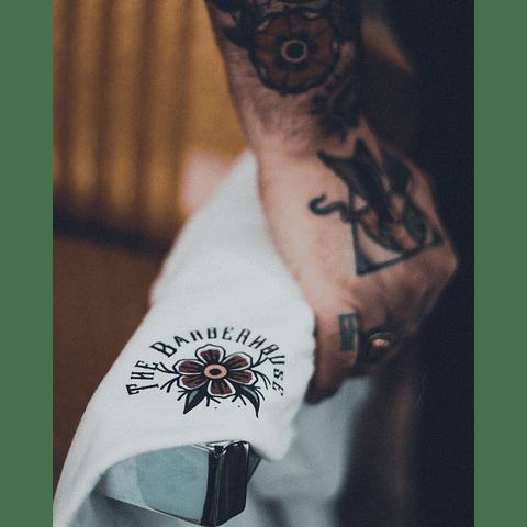 "T-Shirt The Barberhouse "" Razor "" Branca"
