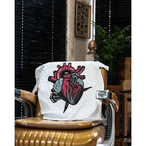 "T-Shirt The Barberhouse "" Heart "" Branca"