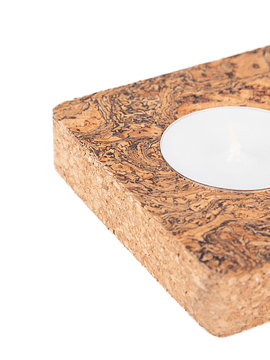 Block of 2 Candles Black Marble